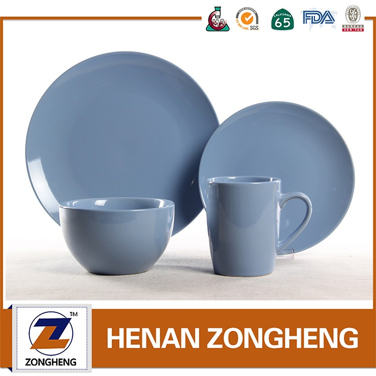 Solid color glaze ceramic tableware dinnerware
