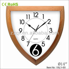 new design solid wooden clock with thermometer hygrometer