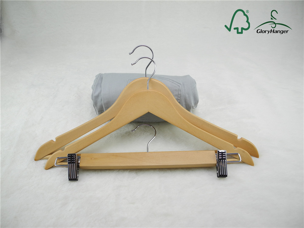 Wooden Tops Hanger and Pants Hanger