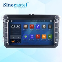 competitive price for Sinocastel car dvd player with Android 5.1.1 Quad core ROM 16GB gps navigation