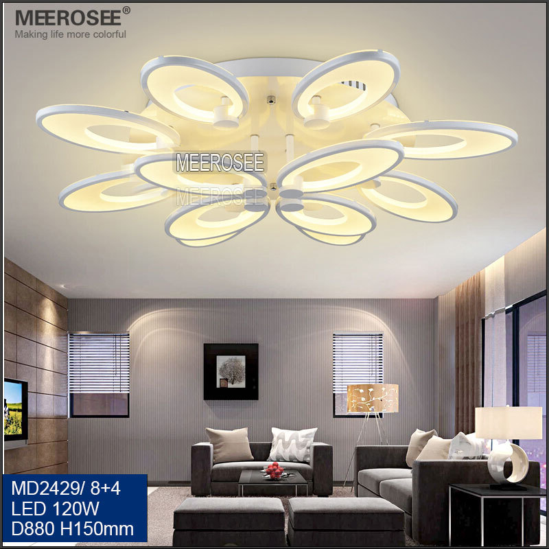 Hot Modern Flower Shape White LED Ceiling Light For Living Room MD2429
