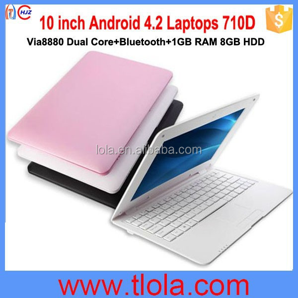 Wholesale 10 inch Via8880 <strong>Laptops</strong> with 1GB RAM 8GB HDD Bluetooth 710D