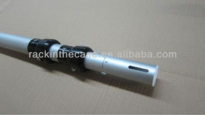Telescoping upright/crossbar/base and telescoping pipe and drape