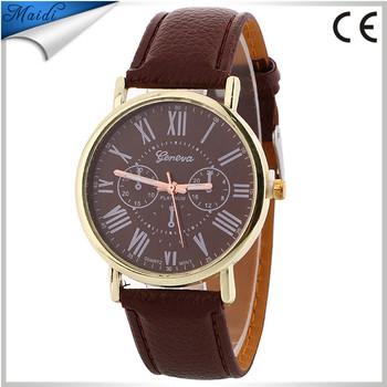 Las Leather Watch New Design Geneva Watches Multi Colors Casual Women Bracelet Gw111