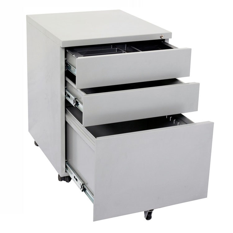 Office Filing Cabinet Mobile Metal Drawer Cabinet Files Storage Steel Wheel  Drawer Box Dental File Chest