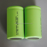 Ni-mh D size 1.2v rechargeable battery 5000mah cylinder