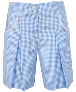 Girls School Gingham Culottes school shorts