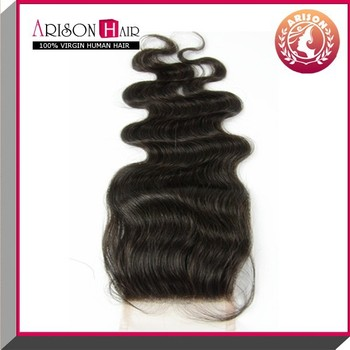 2015 best selling natural color in body wave cheap lace closure