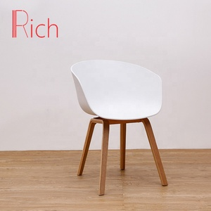 European Modern wooden design dining room furniture white plastic chair