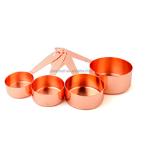 high quality 4 Pcs Copper Measuring Cup Spoon Set