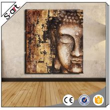 China factory reasonable price buddha oil painting on canvas 3d