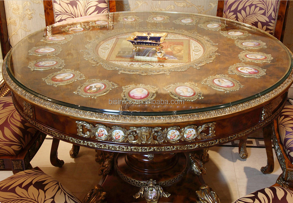 Deluxe French Baroque Style Brass Mounted Dining Table