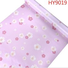Розовые водостойкие самоклеящиеся обои для дома, виниловые обои для украшения дома, спальни, гостиной, размер рулона (0,45 М * 10 м)(Китай)