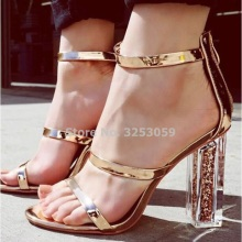 6fdd1485a1 Buy gold strappy heels and get free shipping on AliExpress.com