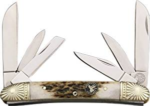 Frost Whitetail Cutlery Folding Knife,Twin Sheepsfoot/Pen/Wharncliffe/Coping Blade, WT-570DS