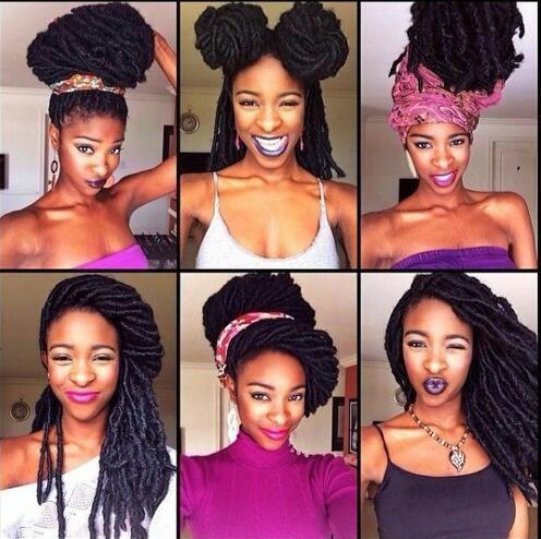 Bohemian Styles Synthetic 2x Havana Mambo Faux Locs Crochet Braids High Temperature Ombre Braiding Hair
