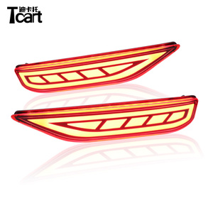 Tcart High quality ABS Plastic Two-Function Stop Braking light Rear Daytime Car LED Fog Lamp Lights