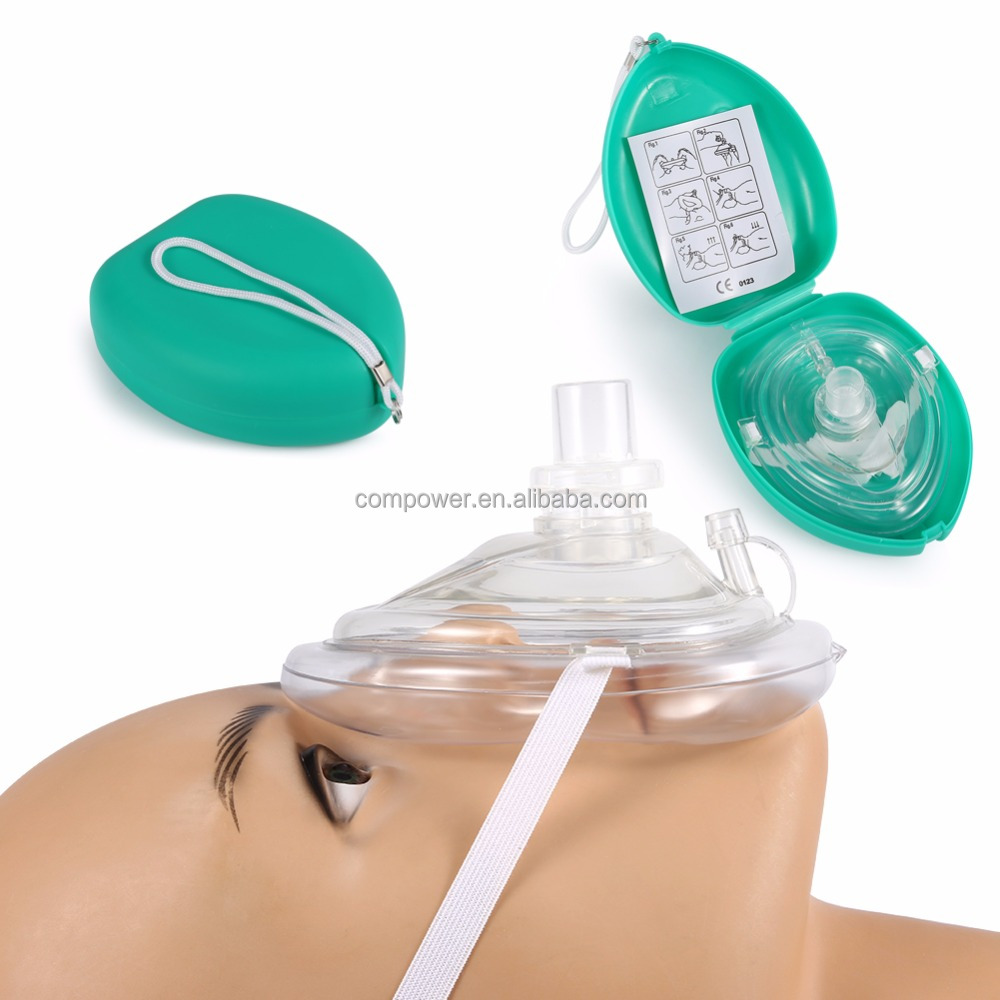 CPR Rescue Mask Professional Adult/Child Size Resuscitator in hard case