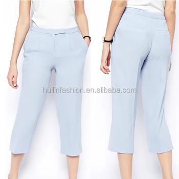 596ad6ac40cedc ingrosso vestito di affari per delle donne pantaloni delle signore della  moda pantaloni tre quarti