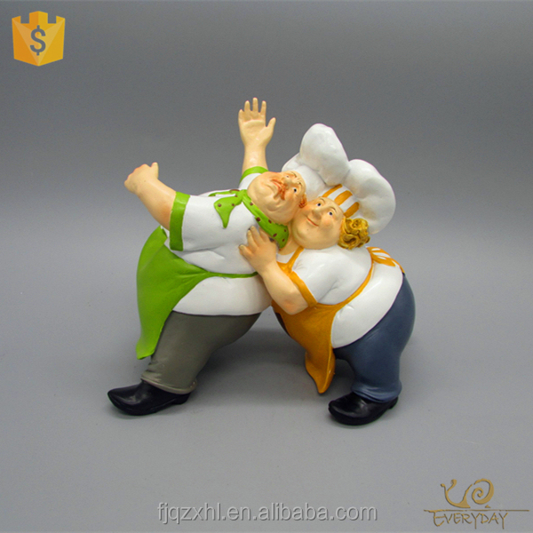 Fat chef cocina, Master chef estatuas, Fat chef estatuilla estatuas