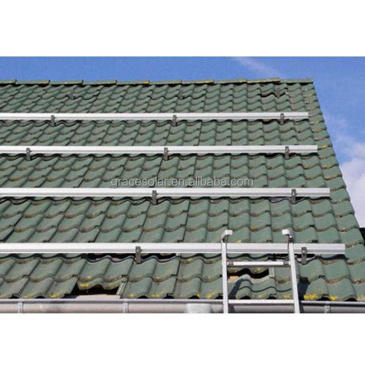 solar energy project for home, solar pitched roof racking system & tile, aluminum solar mounting structure