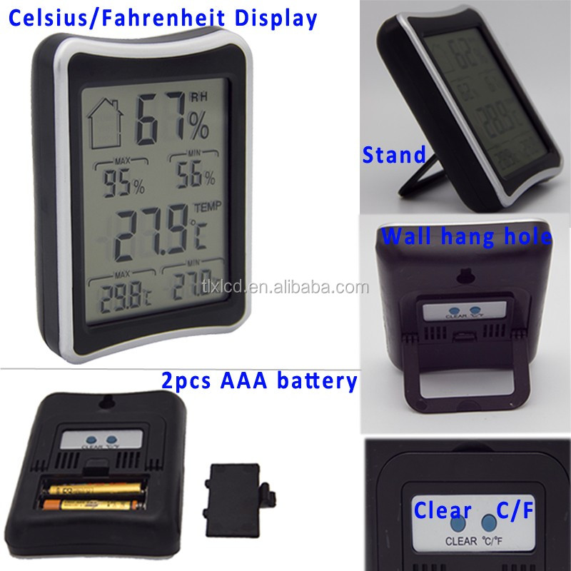 Indoor Room Big LCD Screen Temperature and Humidity Meter Digital Room Thermometer Hydrometer