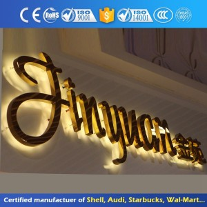 Led Stainless Steel Backlit Letter Sign