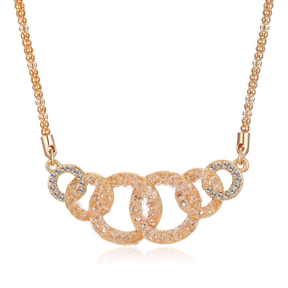 <strong>Fashion</strong> And Costume 18K Rose Gold Necklace Jewelry Set For Party