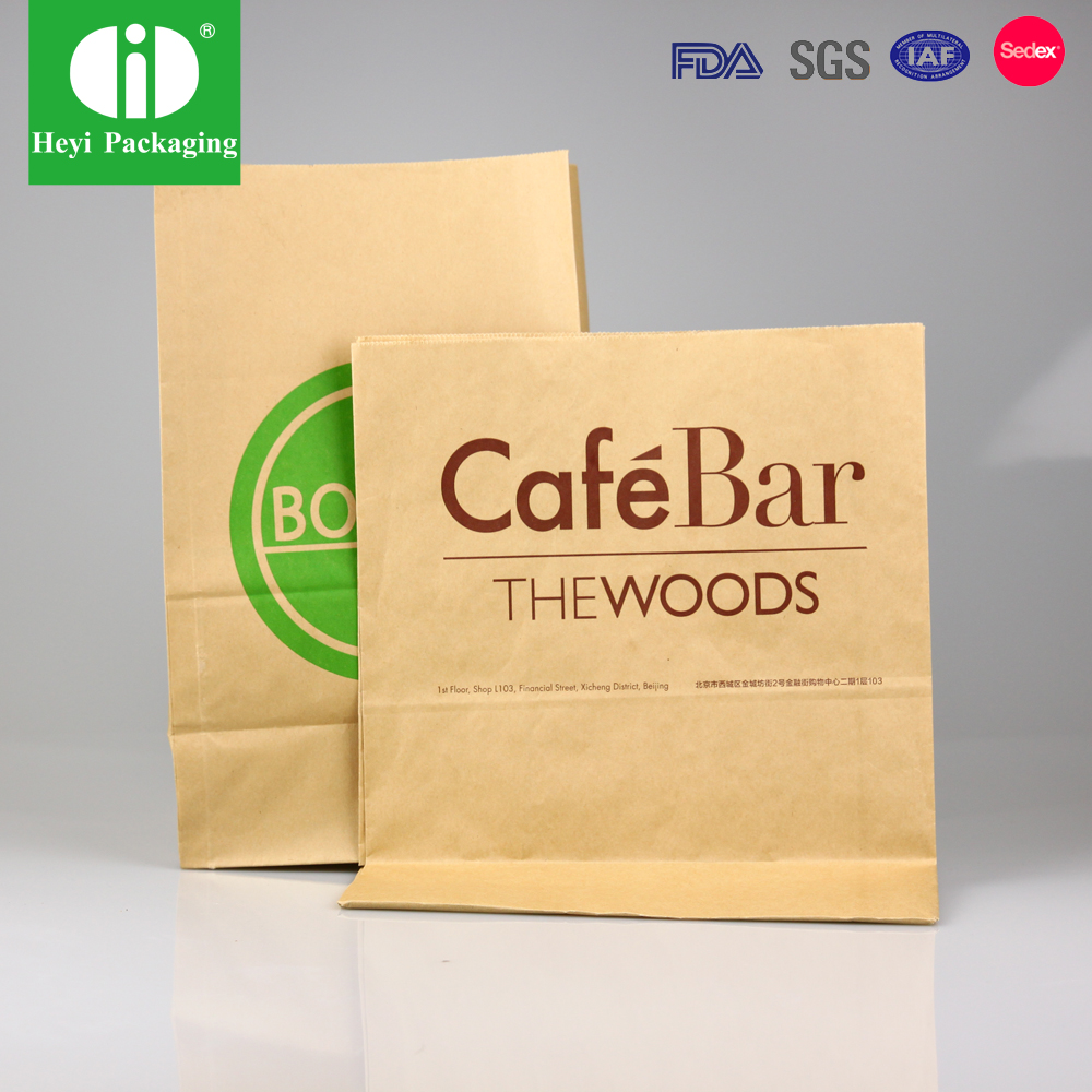 Food Package Brown Kraft Paper Bag