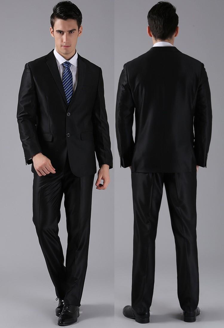 (Kurtki + Spodnie) 2016 Nowych Mężczyzna Garnitury Slim Fit Niestandardowe Garnitury Smokingi Marka Moda Bridegroon Biznes Suknia Ślubna Blazer H0285 20