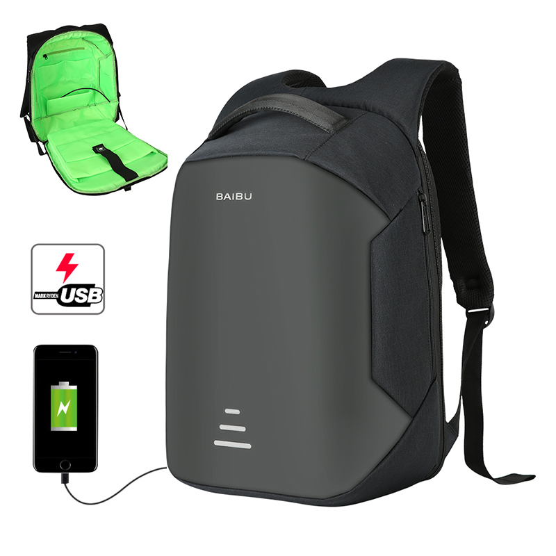 New Fashion High Quality Nylon Waterproof School Anti-theft USB Smart Laptop Bag <strong>Backpack</strong>