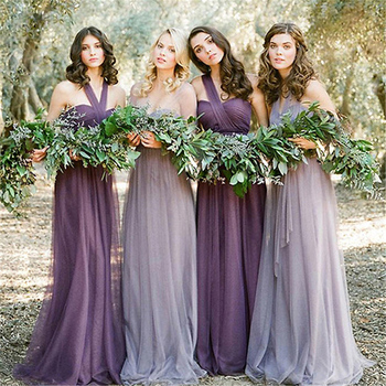 fb74f6f7a7e3 Convertible Bridesmaid Dresses Long Tulle Maid Of Honor Dresses ...