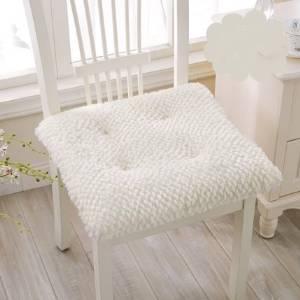 Supersoft plush chair Seat cushion summer Upholstery Office mats car Seat cushion Chair pad Chair Seat cushion white