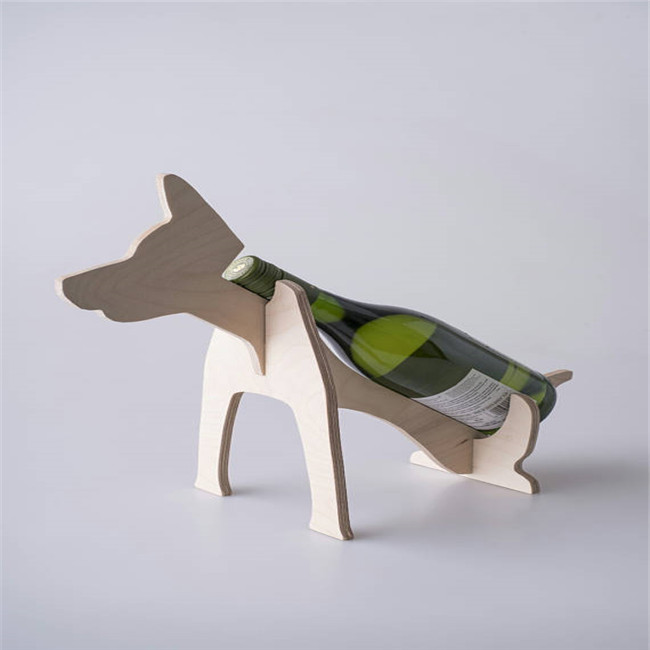Dog Wine Holder Single and housewarming wine storage
