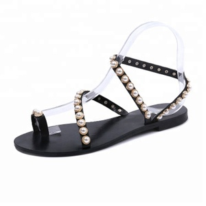 2018 China wholesale new special designs flat sandals