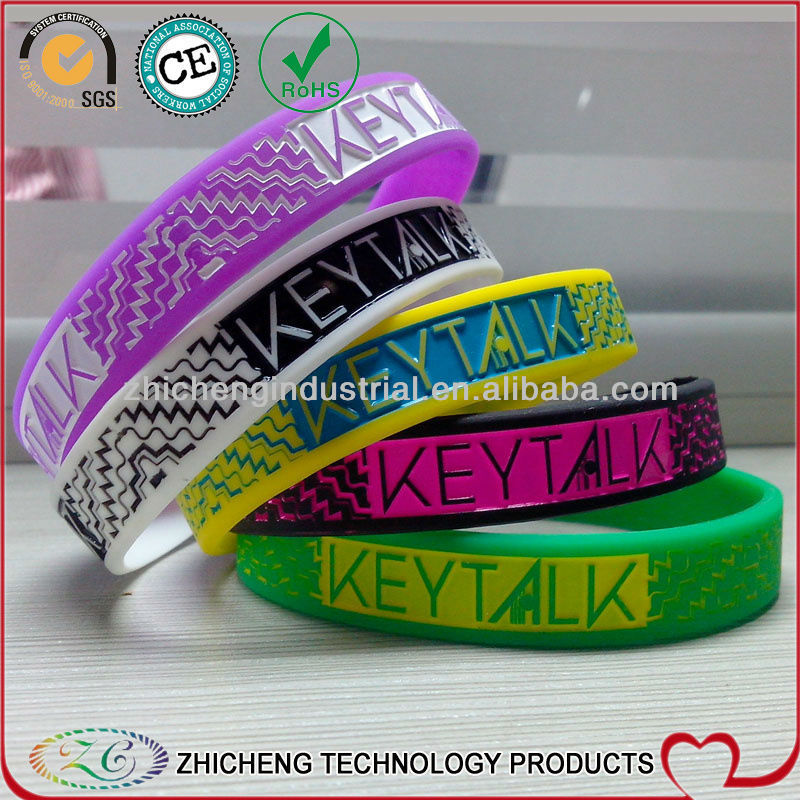 Silicone Rubber Band With Embossed 3d Writting Kleytalk