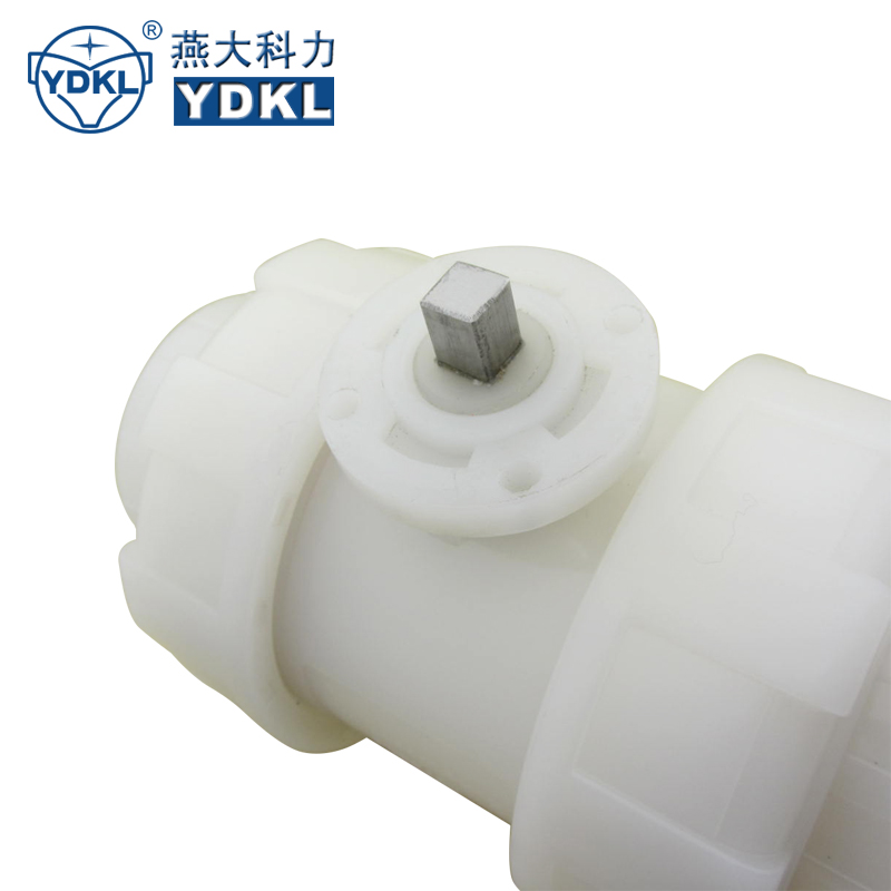 Manual operated pvdf white pvc ball valve