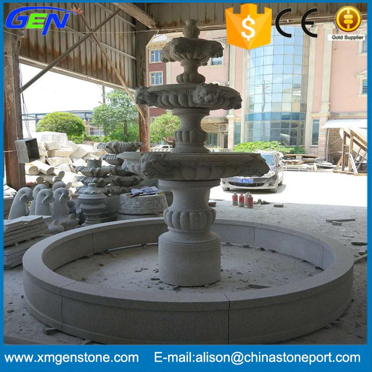 Jardn de alta calidad piedra natural de granito fuente de agua