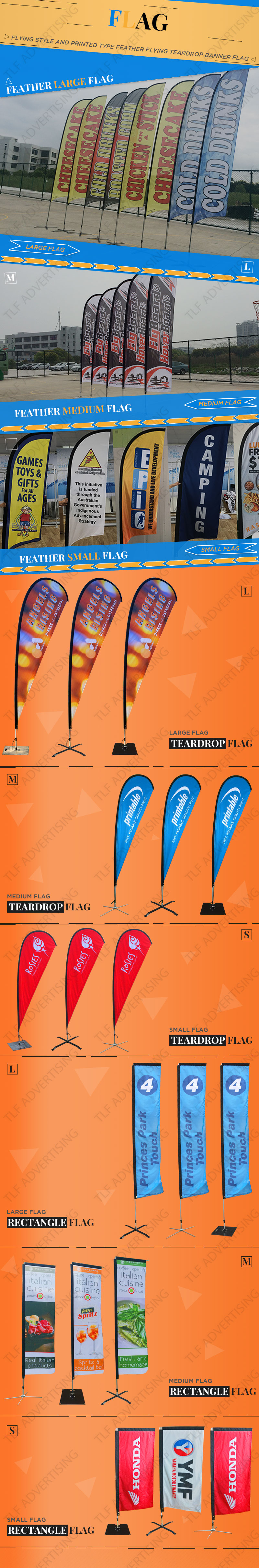 High quality customised dance floor stand feather flags