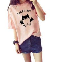 2016 Women's Summer T-Shirt Lovely Bat Printed Short Sleeve Tops Free Shipping New
