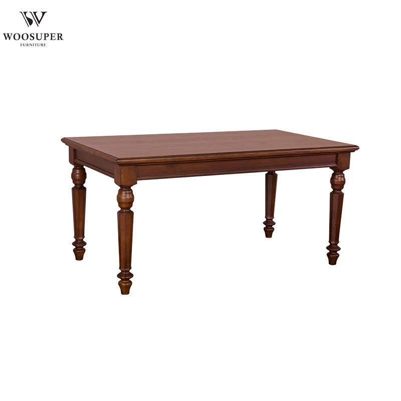 木製ダイニングルームの家具伝統的な木製ダイニングテーブル