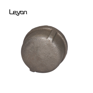 ISO 49 malleable iron cap Electroplated Finish Towel Holder Black Cast Pipe Fitting Cap Pipe End Screw Cap For Furniture