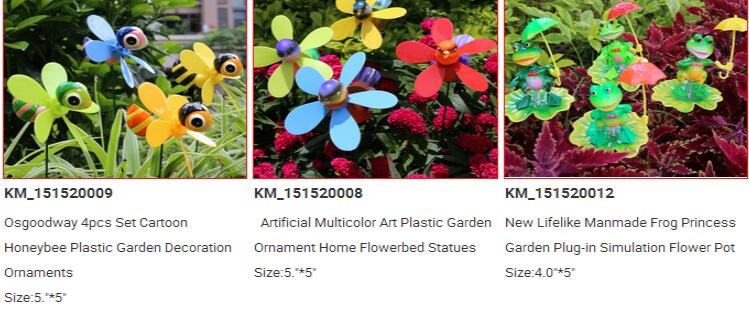 Osgoodway Hot Sale Plastic Garden Ornaments Stakes Plastic stick for Lawns, gardens, courtyards with free shipping