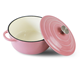 cast iron enamel pink dutch oven 26cm