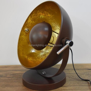 Coffee Brown Antique Metal Table Lamp Classic Retro Style Desk Lamp