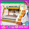 2016 high quality children wooden bunk bed, comfortable kids wooden bunk bed W08A021