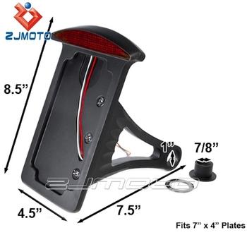 Black Side Mount Motorrad Rücklicht Kennzeichenhalter Roller