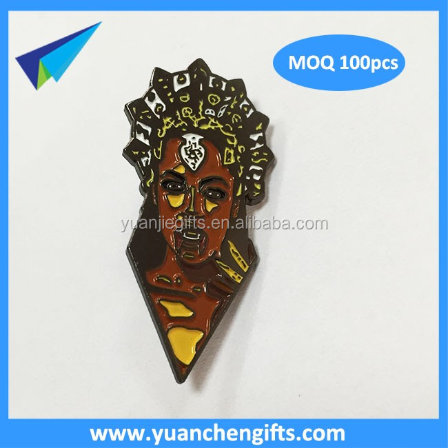 Dongguan custom enamel lapel pin 2mm with 2 pins post backing