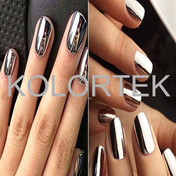 Nail Art Chrome Pigment Powder,Mirror Effect Aluminium Silver ...