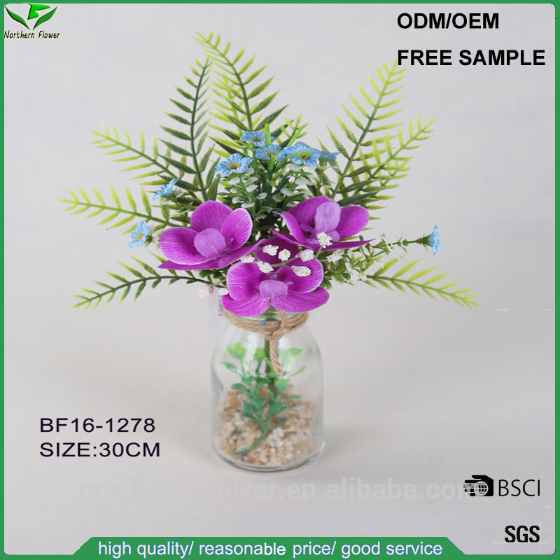 Artificial Flower In Gl Vase Wholesale, Artificial Flowers ... on